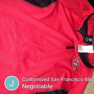 Authentic 49er San Francisco half zip sweater